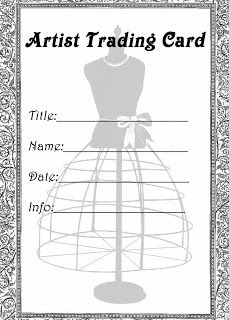 **FREE ViNTaGE DiGiTaL STaMPS**: Free Printable - Artist Trading Card Dress Form Label