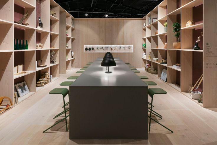 Wide plank flooring and wall cladding at Das Haus 2017 - Douglas by Dinesen