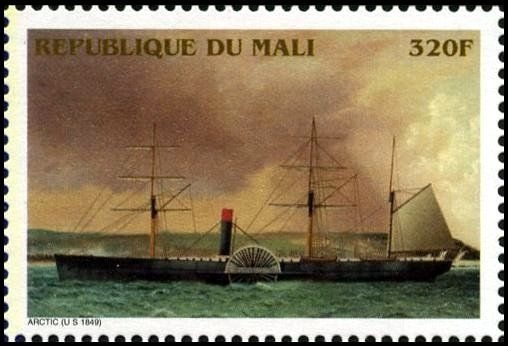 SS Arctic, USA (1849-1854) (Mali) (Ships of the 19th Century) Mi:ML 1699,Yt:ML 1202