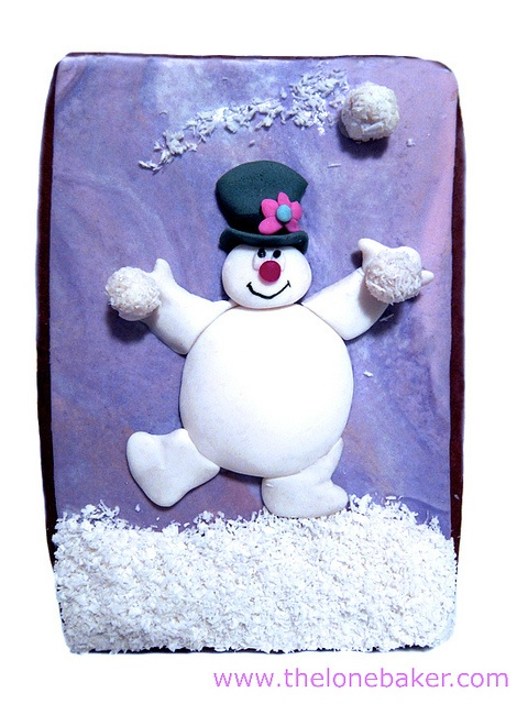 Christmas cookie snowman