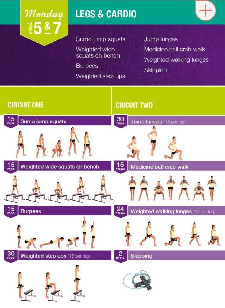 week 5&7 legs and cardio