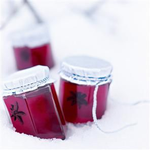 Mulled cranberry and apple jelly recipe. This lightly spiced jelly is perfect with roast meats such as lamb, beef and turkey, and it's equally delicious on toast. This will keep for up to 3 months in a cool dark place, which makes it a perfect home-made gift to give to friends and family (and it only costs 77p per jar to produce!)