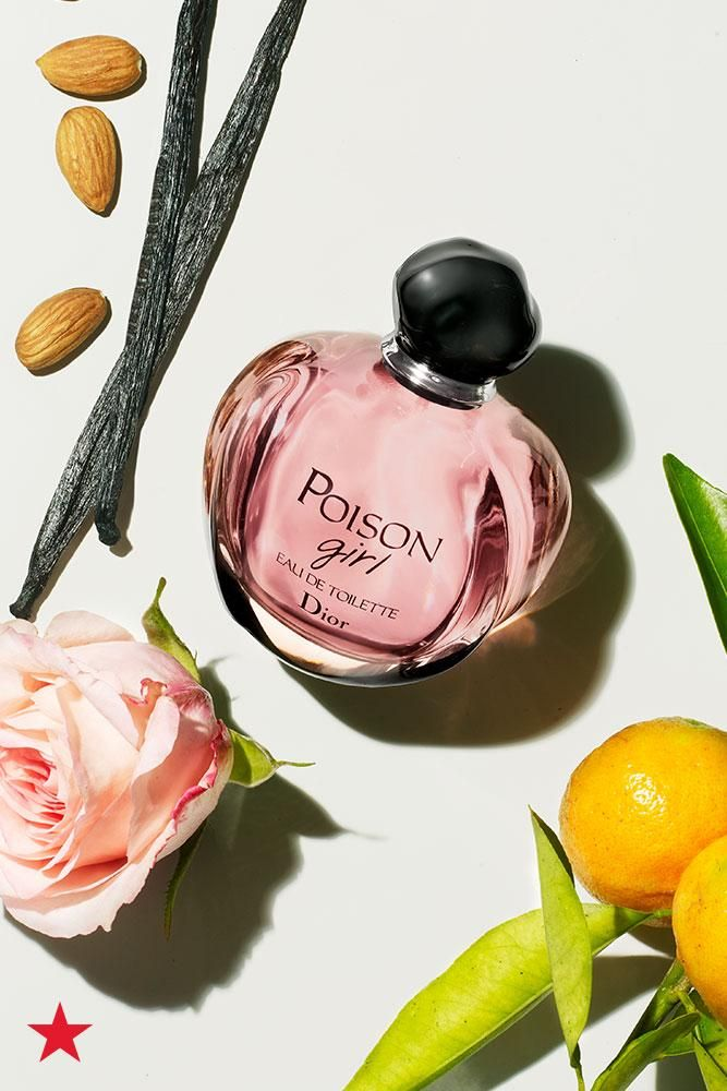 The newest fragrance from Dior, Poison Girl is an irresistible mix of fruity orange top notes, floral rose middle notes and a sweet vanilla base. Click to shop at Macy's.