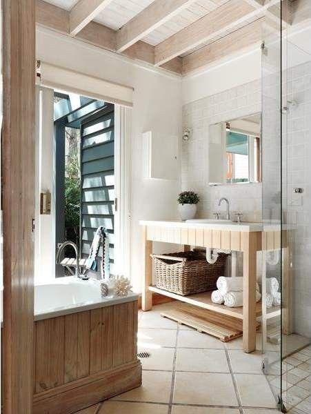 Dreamy Beach House Decor | Fab You Bliss Bathroom w outdoor view!