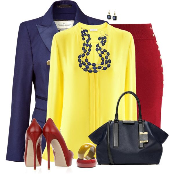 Red, Yellow & Blue by daiscat on Polyvore featuring iHeart, By Malene Birger, Chicwish, Valentino, Michael Kors, Gottex and Juicy Couture