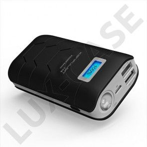 Konfulon (Svart) 10000mAh Dual USB Power Bank till Smartphones
