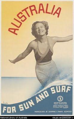 Australian Vintage Surf Poster