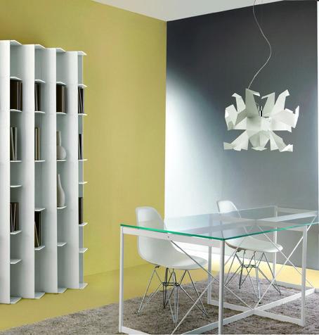ASNAGO & VENDER tavolo. lampada Glow bianca a sospensione