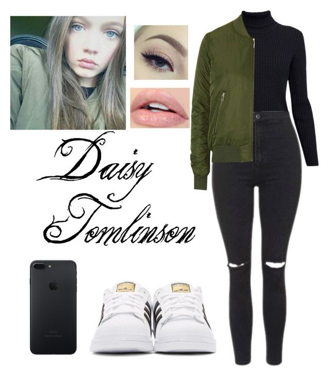 """Daisy Tomlinson"" by natalia-tommo ❤ liked on Polyvore featuring Rumour London, Topshop and adidas Originals"