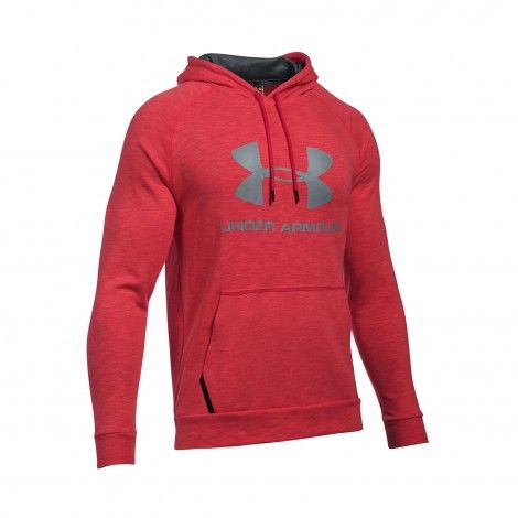 Under Armour Sportstyle Fleece trui heren red De Wit Schijndel @underarmour #trui #sweater #underarmour #fitness #sport