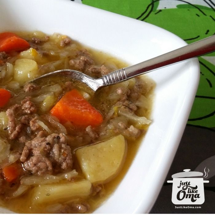 German Potato and Cabbage Soup perfect any time of the year. Check out http://www.quick-german-recipes.com/potato-and-cabbage-soup.html