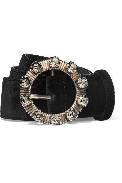 Black velvet Buckle fastening Made in Italy