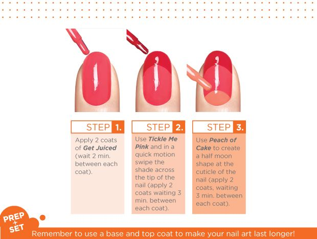 """An easy-do pattern from Sally Hansen """"French Twist."""" Adapt this to any color scheme. #nailart"""
