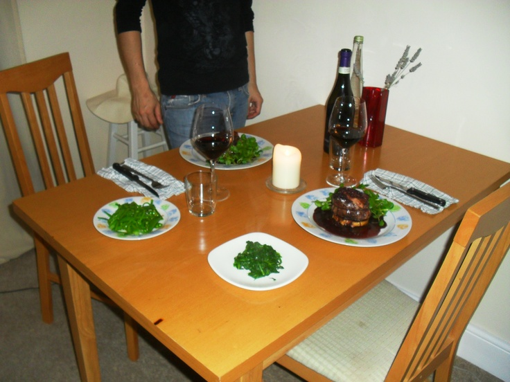 Fillet steak rossini at home in Brixton London