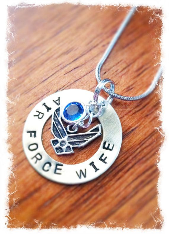 Hey, I found this really awesome Etsy listing at http://www.etsy.com/listing/129012378/air-force-wife-necklace