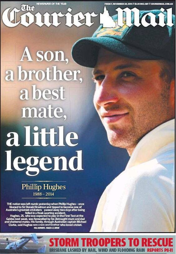 Phillip Hughes who passed away 27th November 2014.