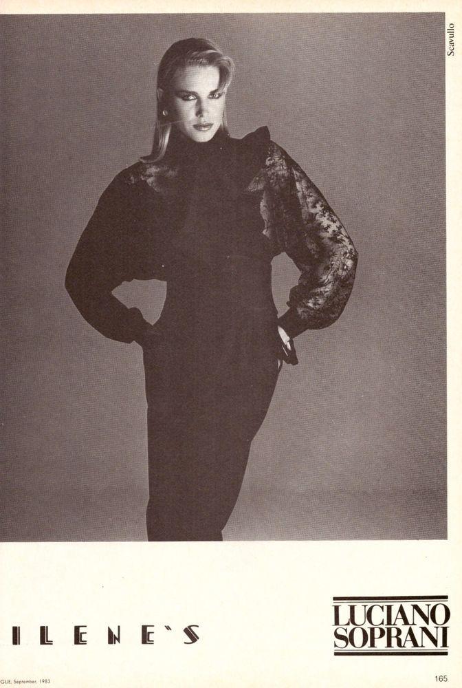 1983 Luciano Soprani Francesco Scavullo Print Ad Vintage Advertisment VTG 80s | eBay