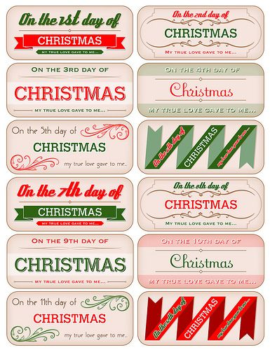 photo regarding 12 Days of Christmas Printable Templates named 12 Times Of Xmas Template