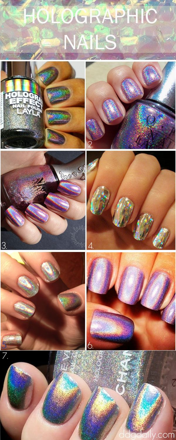 Holographic Nails: A DDG moodboard full of radical digit designs - dropdeadgorgeousdaily.com