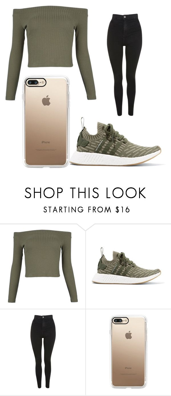 """""""Untitled #1189"""" by alanawedge59 on Polyvore featuring WithChic, adidas Originals, Topshop and Casetify"""