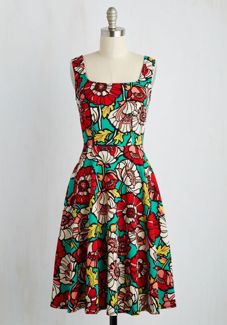 Set Things Illustrate Dress. Looking to embolden your wardrobe? #multi #modcloth