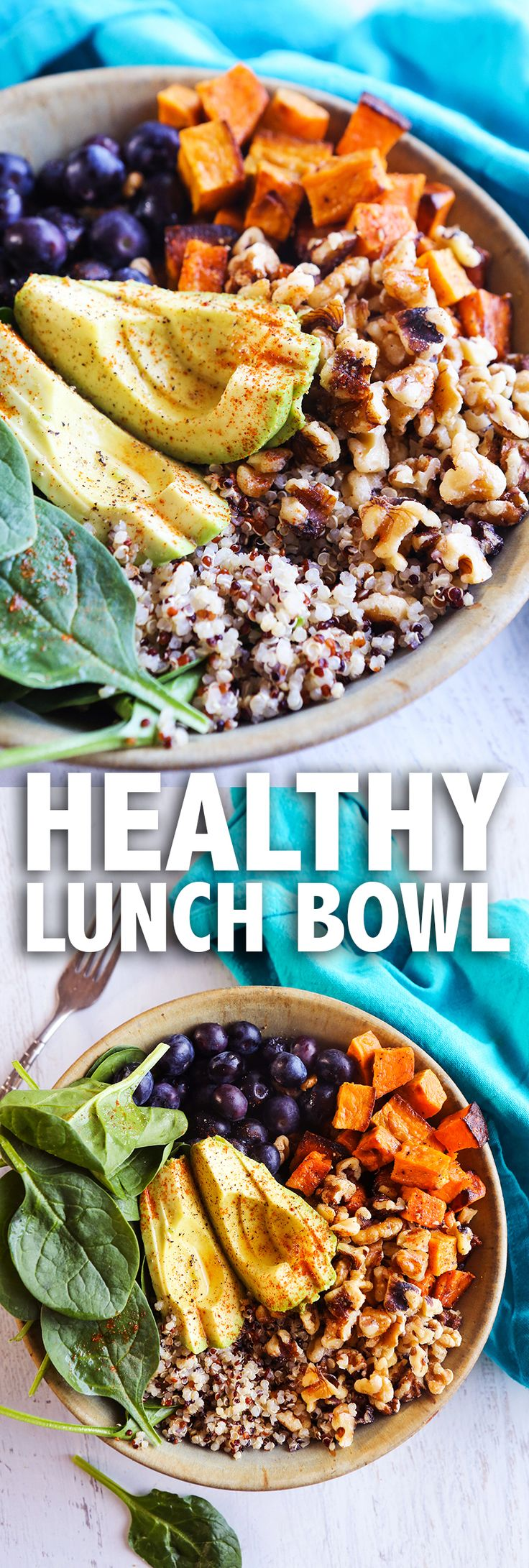 Healthy Lunch Bowl | This lunch bowl is so delicious and PACKED with healthy goodness!