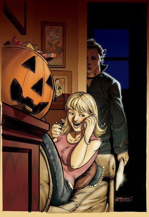 Halloween illustration Halloween film, Horror comics