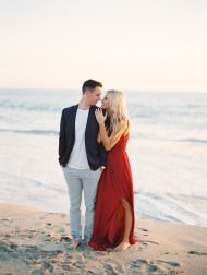 Romantic laguna beach engagement - Style Me Pretty