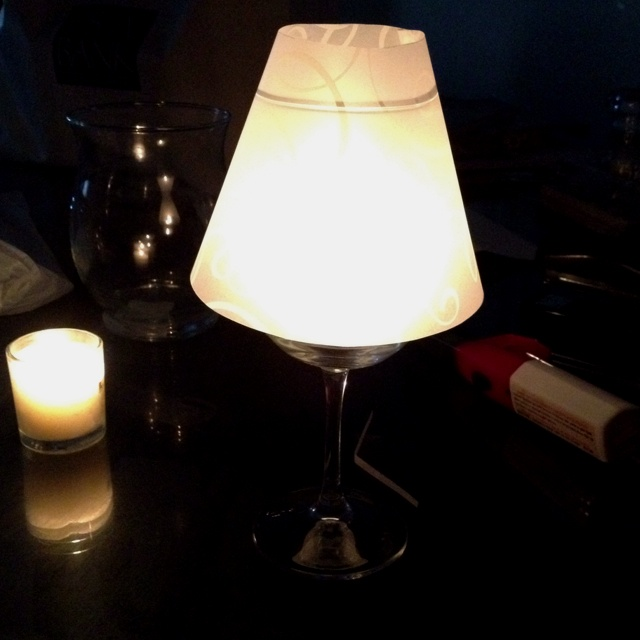 17 best images about vellum lamp shades on pinterest for Wine glass lamp centerpiece