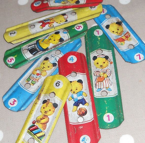 Vintage Reclaimed Sooty Printed Tin Xylophone Parts For by Jnamas, $12.99