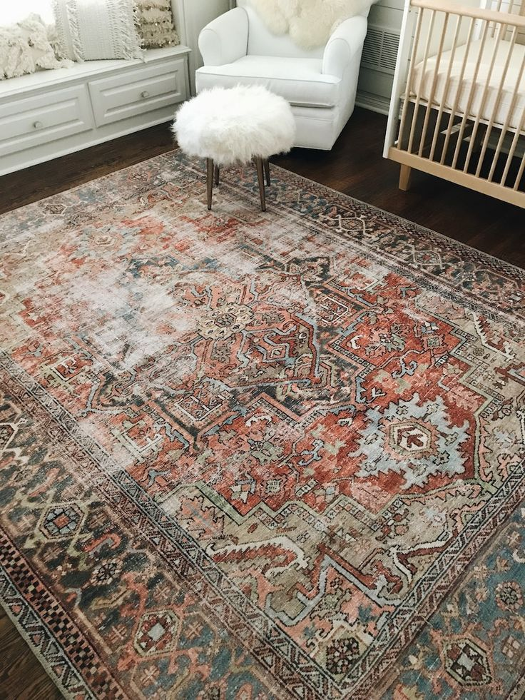 Pink Rug In Nursery With Images Urban Outfitters Rug Bohemian