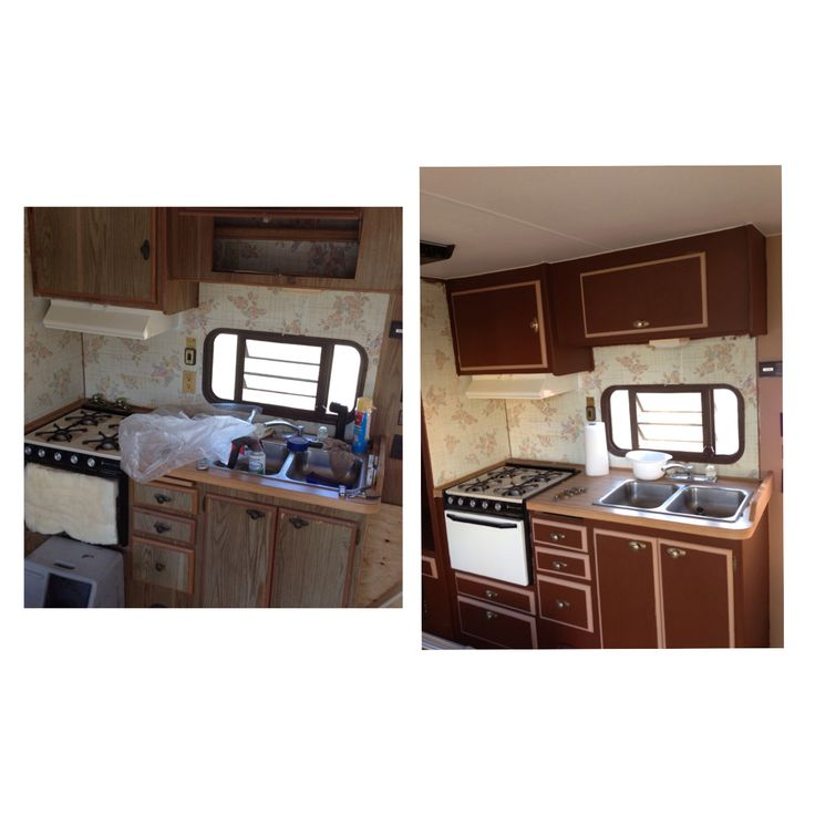 DIY: Travel Trailer Kitchen Makeover!!!
