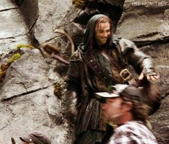Kili's dance (gif). Clearly, Aiden Turner had the time of his life filming The Hobbit. Oh man I love him