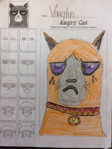 Mini Matisse: Sub Plan- Why is your Cat Angry?