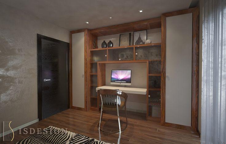 Кабинет - дизайн проект интерьера четырехкомнатной квартиры в Праге. Архитектор-дизайнер Инна Войтенко.