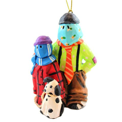 Mummer Christmas Ornament - Kids & The Dog From Down the Beach