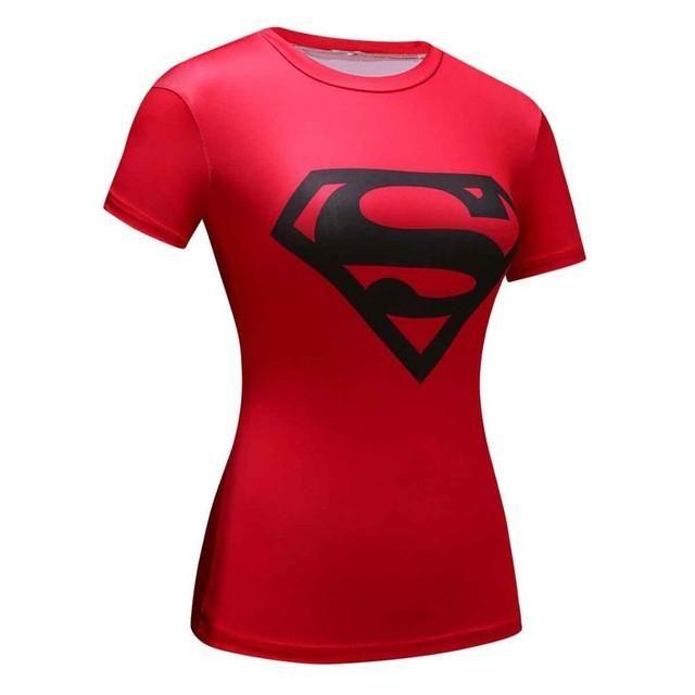 FabrikFit Women's Superman 3D Comic t-shirt (red)