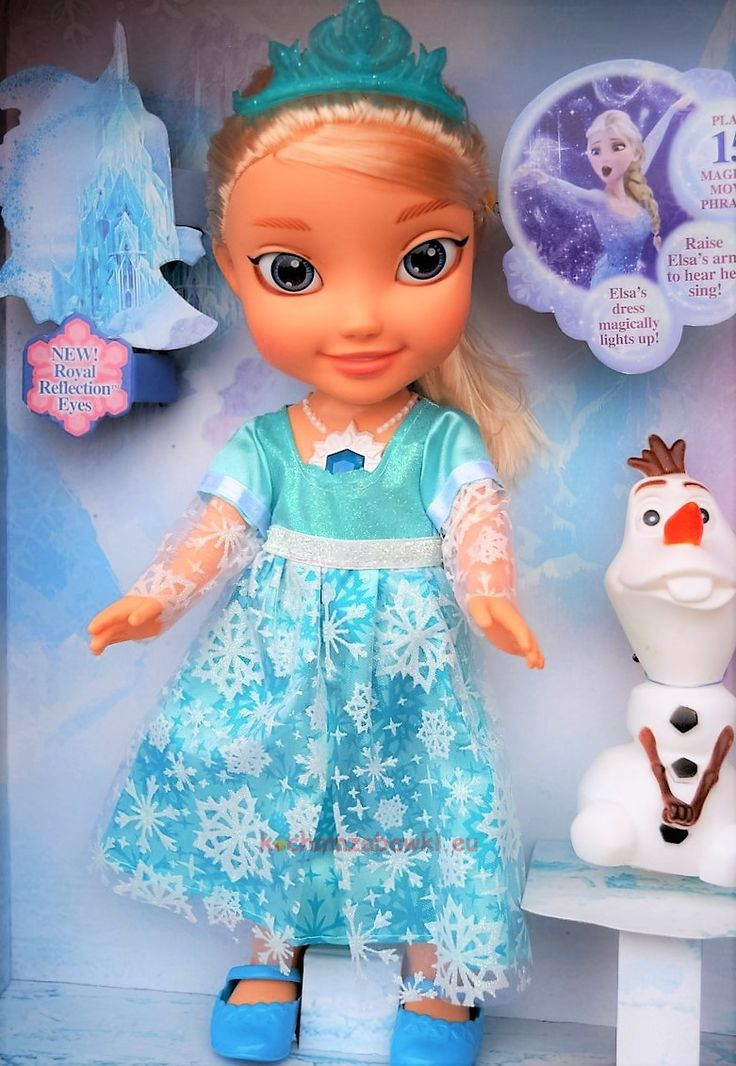 """Lalka Elsa i bałwanek Olaf  z bajki kraina lodu """"Frozen"""". Ślicznie wykonana frozen lalka to idealny prezent dla dziewczynki"""