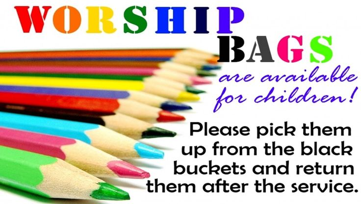 20 ideas of things to put in your worship bag at church!!