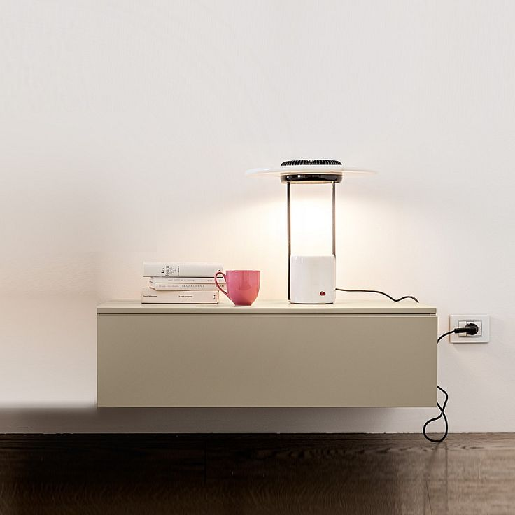 Contemporary nightstand in various lengths. Comes with 2 drawers Tetris by Mobilstella, 43, 63, 93, 123 cm lengths