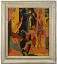 Blind Man's Buff, 1955  Pravoslav Kotík (1889, †1970 v Praze) byl český malíř a grafik.