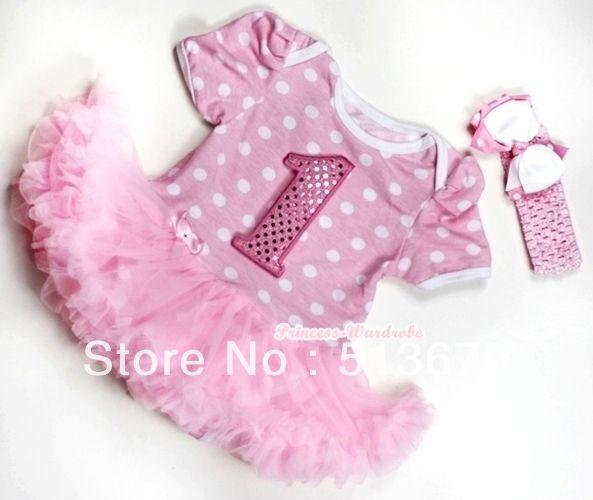 Розовый минни маус Dot 1-й Spakle рождения детское платье ползунки розовый юбка Onesie комбинезон с розовый повязка на голову и белый светло-розовый с бантом MAJS191