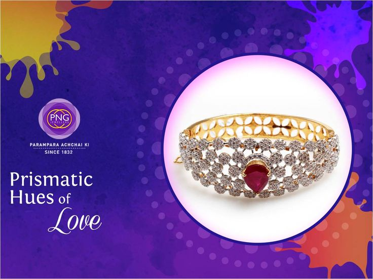 Fill your Holi with lots of love with this vibrant bracelet from #PNGJewelers. #Jewelry #Beautiful #PrismaticHues