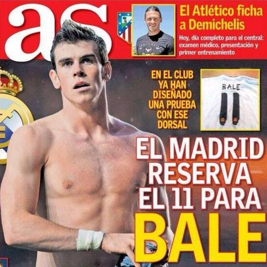 Real Madrid reserved No.11 shirt for Gareth Bale http://visionsport.co.uk/wordpress