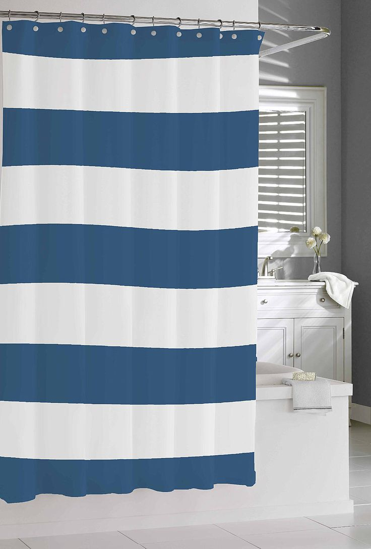 Teal Striped Shower Curtain Teal Stripe Shower CurtainOmbre