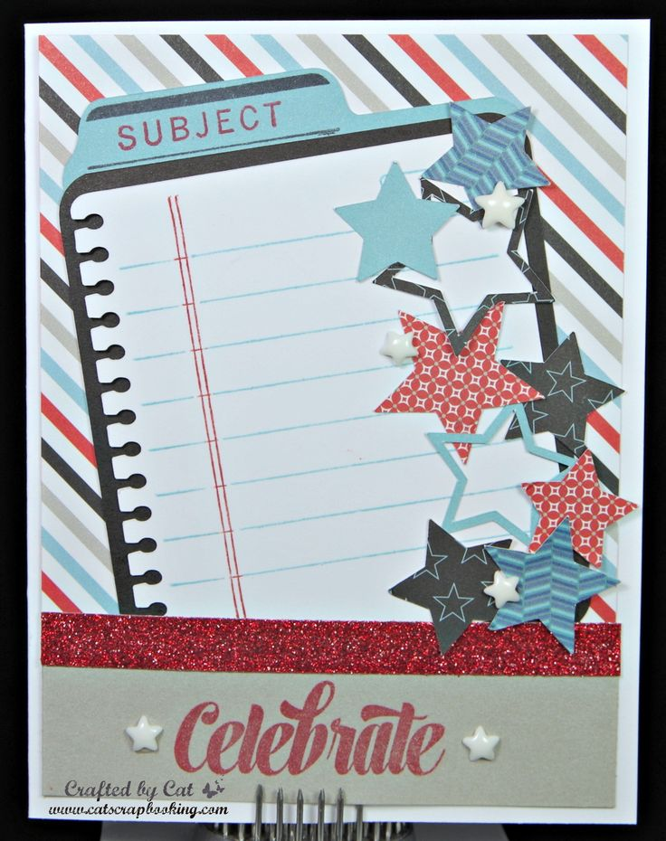 From the Notebook ~ July 2016 SOTM ~ Magical ~ Celebrate Card ~ CatScrapbooking.com