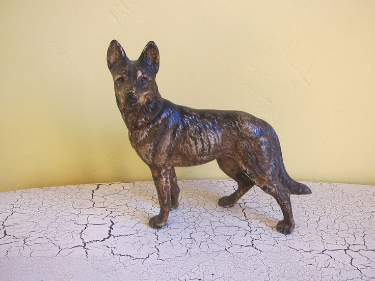 Cast Iron German Shepherd Dog Door Stop By Hubley   228 Best Hubley Manfu.  Co