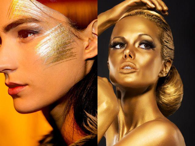 Модный макияж осень-зима 2016-2017: золотая кожа