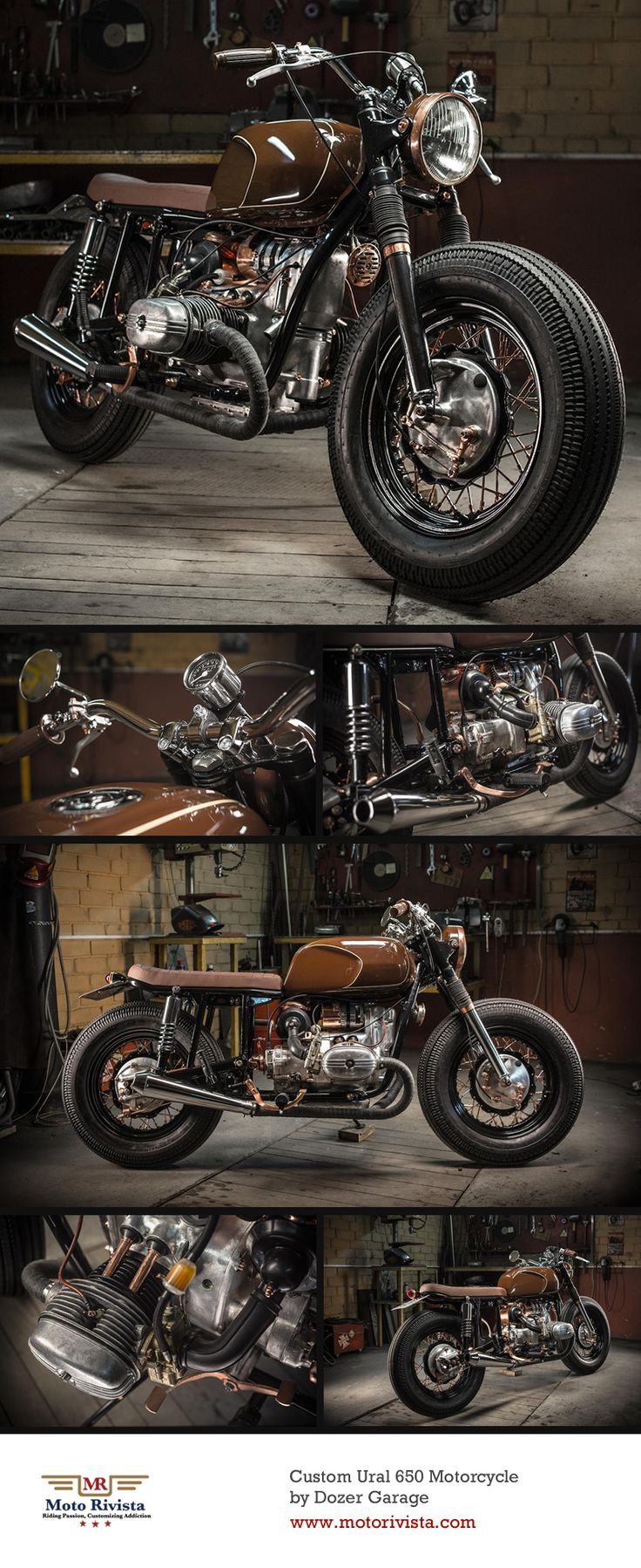 "#Ural 650 #Custom by DoZer #Garage | ""In #Ukraine, when there was no #motorcycle culture I was inspired by the work of the European and Japanese masters. Nowadays we have a great relationship with our clients, they tend to remain as friends. The most enjoyable part of customization is upon it's completion, the joy from the client. Today the good news is the motorcycle culture in Ukraine is developing with more and more people riding motorcycles."" DoZer ~ Featured on www.motorivista.com"