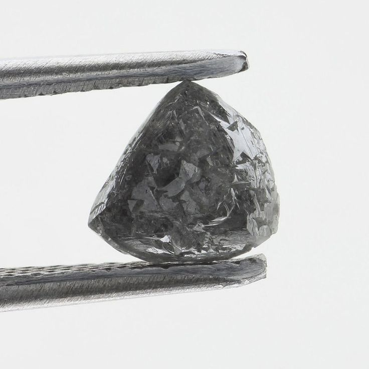 1.21 CT BIG NATURAL REAL Uncut SHAPE ROUGH Silver GRay DIAMOND